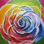 Abstract Rose - 19x19 inches - sold
