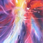 Angel - 10x30 inches oils on canvas $300