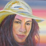 Christina - commission 16x20 inches axrylics on canvas