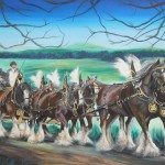 Clydesdales - 30x40 inches - acrylics on canvas $1200