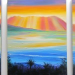 Coromandel triptuch - 18 x 72 inches oils on canvas $750