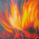 Fire - 10x12 inches Oils on canvas $95