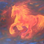 Fire Horse 1 - oils on canvas 20x24 inches $450
