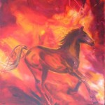 Fire Horse 2 - oils on canvas 20 x 24 inches $450