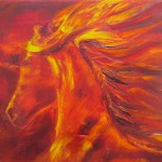 Fire Horse 3 - oils on canvas 10x12 inches $250