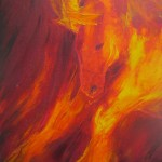 Fire Horse 4 - oils on canvas 10x12 inches $250