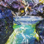 Mount Ruapehu Rock Pool - 24x35 inches acrylics on MDF $200
