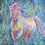 Equus Shimmering - 16x20 inches acrylics on canvas $350