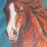 Abu Dhabi Arabian 2 - Acrylics on canvas framed 27x19 inches $520