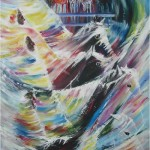 Apocalypse - 96x48 inches - Acrylics on canvas - collection of the artist
