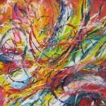Energy 2 - acrylics on MDF $200