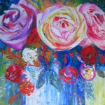 Flowers for Robyn Brown - 19x19 inches solde