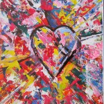 Heart - 10x12 inches acrylics on canvas $95