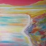 Kaitaia Sand Dunes - 24x36 inches acrylics on canvas $500
