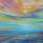 Ocean dawn sketch - 12x16 acrylics on canvas $200