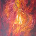 Spirit of Fire - oils on canvas 12x16 inches $350