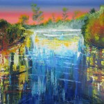 Waikato Magic 3 - Arylics on canvas 18x24 inches $440