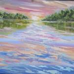 Waikato Magic 4 - Acrylics on canvas 18x24 inches $440